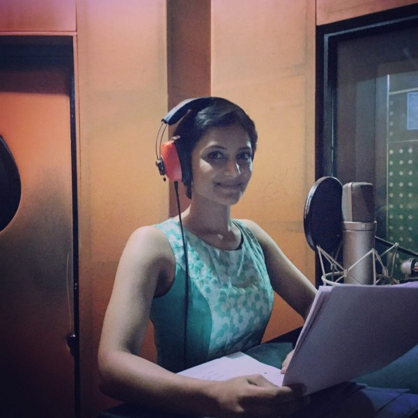 "Miss India Australia ZENIA STARR in a studio for ""My Birthday Song"""